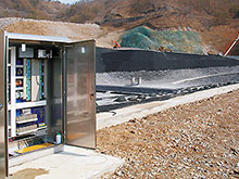 Sensor DDS CMS electronic leak detection system for realtime monitoring of leaks from landfill sites